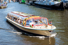 Amsterdam ship on the canal Stock Photography