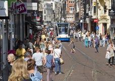 Amsterdam shopping royaltyfri bild