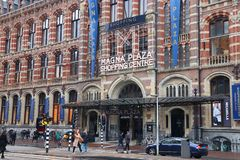 Amsterdam shopping center royalty free stock image