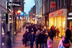 Amsterdam shopping Royalty Free Stock Image