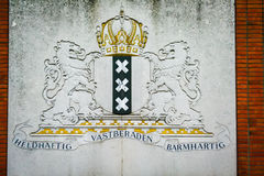 Amsterdam sign. Amsterdam city plate stock image
