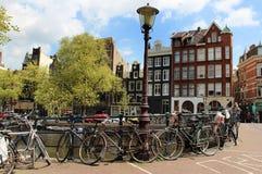 Amsterdam sikter Arkivfoton