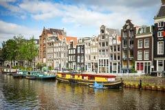 Amsterdam Singel ulica Obraz Royalty Free