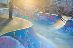 Amsterdam skate grounds and skaters Royalty Free Stock Photos