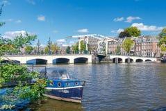 Amsterdam. Skinny Bridge. Royalty Free Stock Image