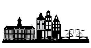 Amsterdam-Skyline lizenzfreie abbildung