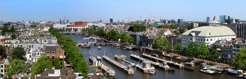 Amsterdam skyline Stock Images