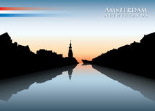 Amsterdam skyline Royalty Free Stock Photography
