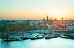Amsterdam skyline Royalty Free Stock Image