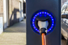 electric hybrid vehicle charge point Royalty Free Stock Photos