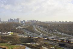 Amsterdam skyline Royalty Free Stock Photo