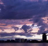 Amsterdam skyline stock image