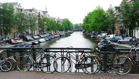 Amsterdam in spring Royalty Free Stock Images