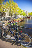 Amsterdam in the spring. Royalty Free Stock Image