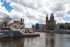 Amsterdam St Nicholas Church Fotografering för Bildbyråer