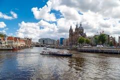 Amsterdam St Nicholas Church Royaltyfria Bilder