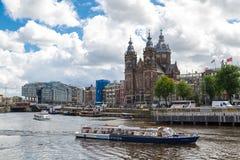 Amsterdam St Nicholas kościół Obraz Royalty Free