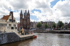 Amsterdam St Nicholas kościół Obrazy Stock