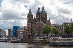 Amsterdam St Nicholas kościół Obrazy Royalty Free