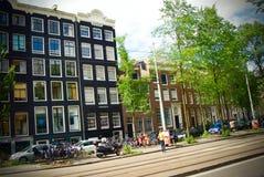 Amsterdam stad Fotografering för Bildbyråer