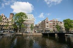 Amsterdam stadssikt Arkivfoto