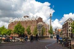 Amsterdam stadssikt Royaltyfri Fotografi