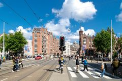 Amsterdam stadssikt Royaltyfria Bilder