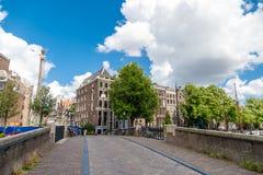 Amsterdam stadssikt Fotografering för Bildbyråer