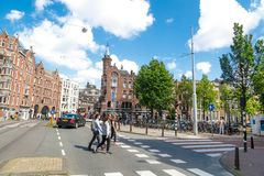 Amsterdam stadssikt Royaltyfria Foton