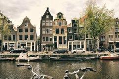 Amsterdam - Stadt in den Niederlanden Stockbild