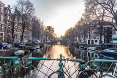 Amsterdam-Stadt, Fluss Stockbild