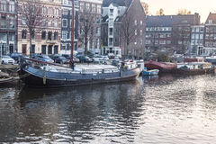 Amsterdam-Stadt, Fluss Lizenzfreies Stockfoto