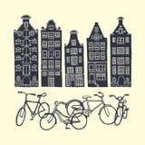 Amsterdam-Stadtplakat Lizenzfreies Stockbild
