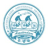 Amsterdam stamp Stock Photo
