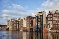 Amsterdam Stary miasteczko przy zmierzchem Zdjęcia Royalty Free