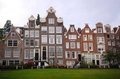 Amsterdam starzy domy Zdjęcia Royalty Free