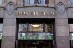 Amsterdam  Stock Exchange at beursplein 5 Royalty Free Stock Photo