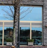 Amsterdam-Straßenansicht Lizenzfreie Stockfotografie