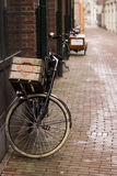 Amsterdam street. Street in Amsterdam, Netherlands with bicycles Stock Photos
