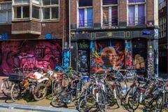 Amsterdam street. Royalty Free Stock Photo