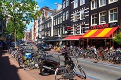 Amsterdam street. Royalty Free Stock Image