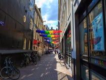 Amsterdam street. Royalty Free Stock Photos