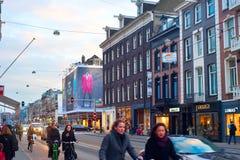 Amsterdam street Royalty Free Stock Photos