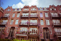 Amsterdam street. Old House in Amsterdam, Netherlands Stock Image