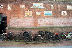 Amsterdam street scene Stock Photos