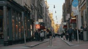 Amsterdam street view, Netherlands stock video