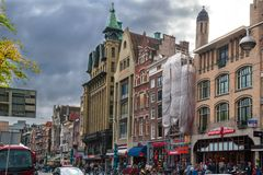 Amsterdam streets and channels. royalty free stock image
