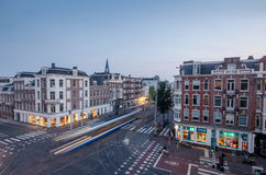Amsterdam streets in the evening Royalty Free Stock Photo