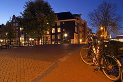 Amsterdam streetview in the Netherlands Royalty Free Stock Image