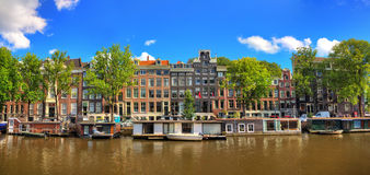 Amsterdam summer panorama royalty free stock image